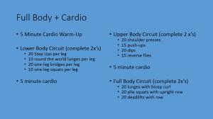 Full Body + Cardio